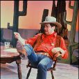 Eddy Mitchell déguisé en John Wayne pour la télévision en 1990.
