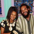Joakim Noah et sa fiancée Lais Ribeiro au Cameroun. Juin 2021.