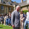 Le prince Charles, prince de Galles, visite le Somerville College d'Oxford à l'occasion de son 140 ème anniversaire et le 100 ème anniversaire des diplômes d'Oxford pour les femmes. Le 8 juin 2021.