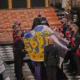 Funérailles du prince Philip, duc d'Edimbourg à la chapelle Saint-Georges du château de Windsor, le 17 avril 2021.