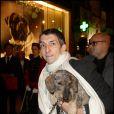 Gérard Klein et son teckel au Gala de la Truffe, chez Lancel, le 16/11/09