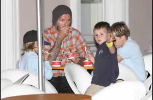 EXCLU : David Beckham est blessé mais retrouve le moral... avec ses enfants et une bonne glace !