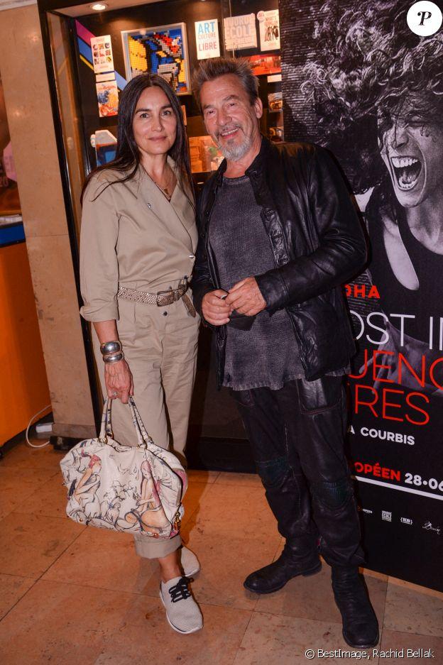 Exclusif - Florent Pagny et sa femme Azucena Caamano lors de la première du spectacle Lost in Buenos Aires à l'Européen à Paris le 28 juin 2021. © Rachid Bellak / Bestimage