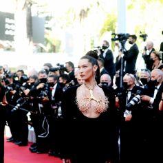"""Bella Hadid - Montée des marches du film """" Three Floors / Tre Piani"""" lors du 74ème Festival International du Film de Cannes. Le 11 juillet 2021 © Borde-Jacovides-Moreau / Bestimage"""