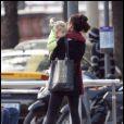 Telma Ortiz et sa fille Amanda à barcelone, 12 novembre 2009