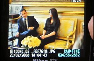 Aujourd' hui à l' Elysée, première apparition officielle de Carla Bruni au côté du président Nicolas Sarkozy...