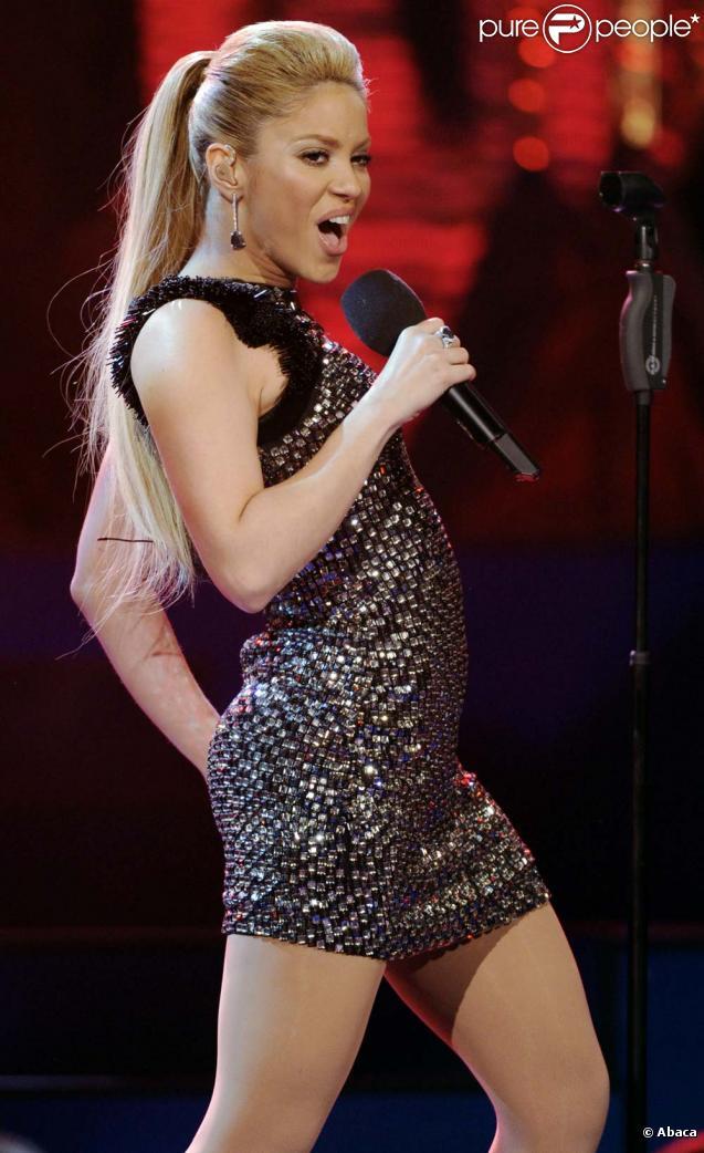 Shakira est sacrée chanteuse internationale de l'année lors de la cérémonie des Bambi Awards à Potsdam, le 26 novembre 2009.