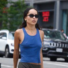 Exclusif - Zoe Kravitz est allée déjeuner en terrasse d'un restaurantdans le quartier de Manhattan à New York. Le 25 juillet 2021