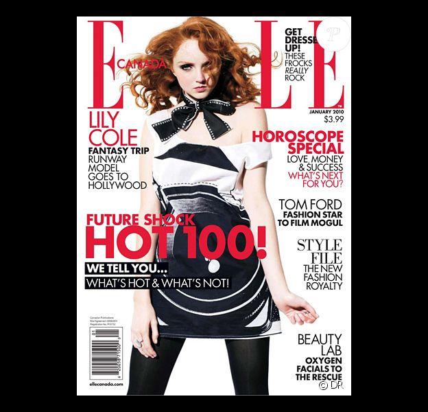 Lily Cole en couverture du Elle Canada