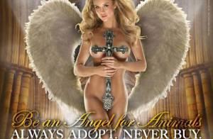 La belle Joanna Krupa adore nos amis à poils... alors elle s'y met aussi et lance la campagne ! (réactualisé)