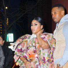 Nicki Minaj et son mari Kenny Petty font un passage au défilé Marc Jacobs lors de la fashion week à New York le 12 février 2020.