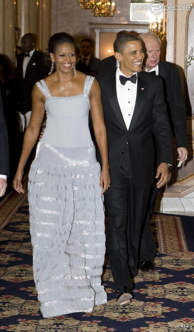 Barack et Michelle Obama au dîner du Prix Nobel à Oslo le 10/12/09