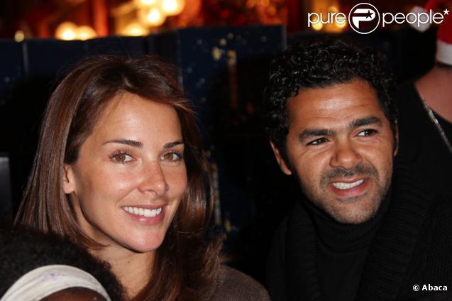 Jamel Debbouze et sa femme Melissa Theuriau au Cirque d'Hiver à l'occasion du Noël organisé par le Secours Populaire, le 23/12/09
