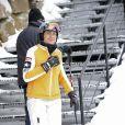 Cristina d'Espagne et toute sa famille aux sports d'hiver, dans les Pyrénées, le 26 décembre 2009.