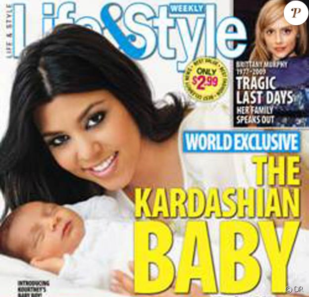 Kourtney Kardashian vous présente son petit bout d'chou Mason Dash Disick en couverture de Life & Style