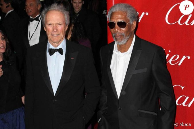 Clint Eastwood et Morgan Freeman, à l'occasion de la ...