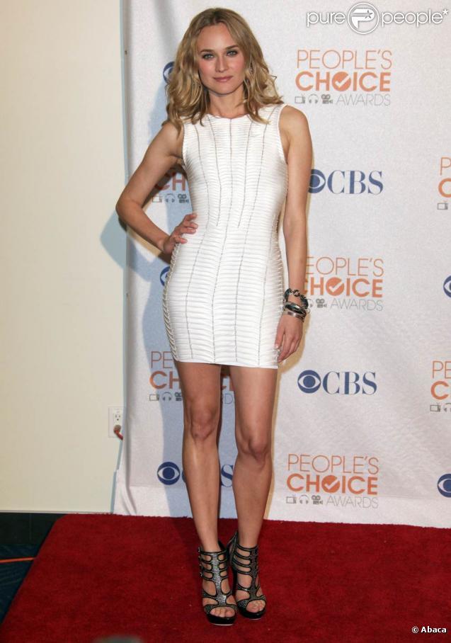 La craquante Diane Kruger, à l'occasion des People's Choice Awards 2010, qui se sont tenus au Nokia Theatre de Los Angeles, le 6 janvier 2010.