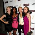 Kelly Rutherford, Nicole Fiscella, le styliste de GG Eric Daman, et Leighton Meester radieuse dans sa robe en soie YSL.