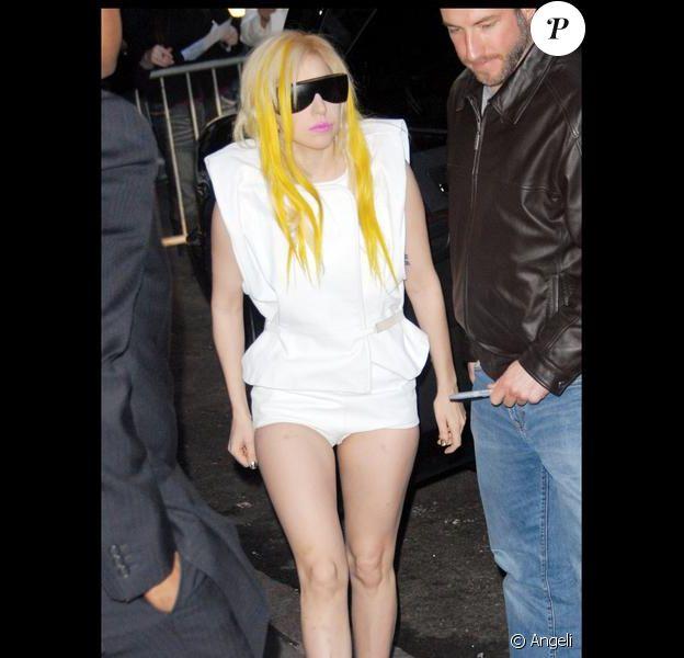 Lady Gaga à New York, le 21 janvier 2010 à New York