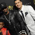 P.Diddy et son fils Christian Casey, ainsi que Quincy Brown, lors de l'anniversaire de Justin Dior Combs, le 23 janvier 2010