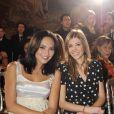 Valérie Bègue et Alexandra Rosenfeld, ravissantes, à l'occasion du défilé printemps/été 2010 de la créatrice Eva Minge, qui s'est tenu à l'hôtel Crillon, à Paris, le 25 janvier 2010.