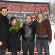 Gerardmer, le 30 janvier 2010 : Le jury court métrage du festival international du film fantastique, dont Mélanie Bernier est membre, a pris la pose...
