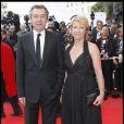 Michel Denisot et Ariane Massenet à Cannes