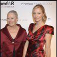 Vanessa Redgrave et Joely Richardson lors du gala de l'amfAR à New York, dédié à Natasha Richardson, le 10 février 2010 !