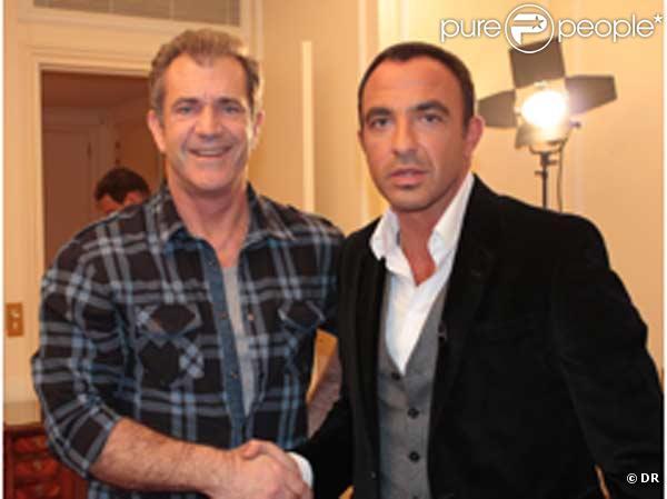 Mel Gibson et Nikos Aliagas