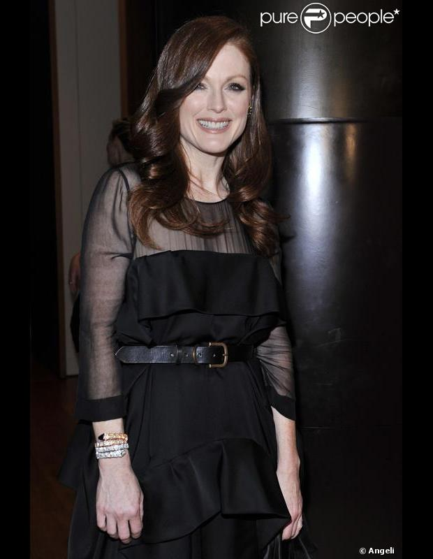 Julianne Moore au cocktail Bulgari lors de la semaine de la mode à Milan