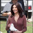 Teri Hatcher sur le tournage de Desperate Housewives. Le 1/03/10