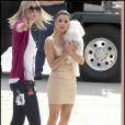 Eva Longoria sur le tournage de Desperate Housewives en Californie. le 1/03/10
