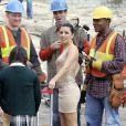 Eva Longoria sur le tournage de Desperate Housewives le 1/03/10