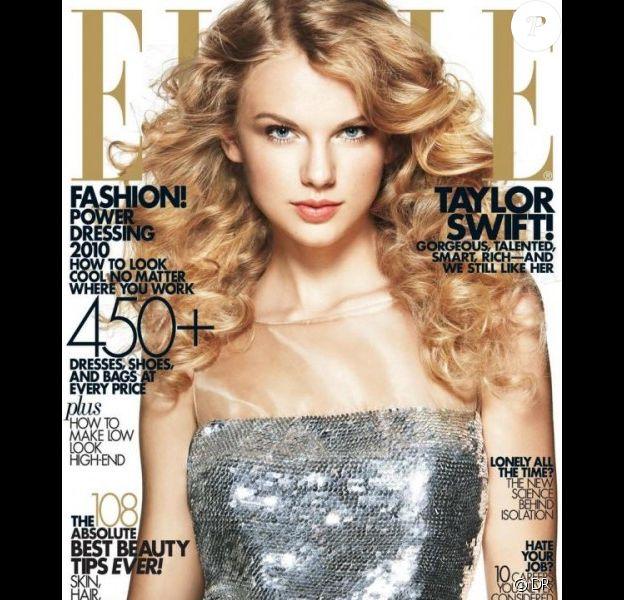 Taylor Swift en couverture de Elle avril 2010