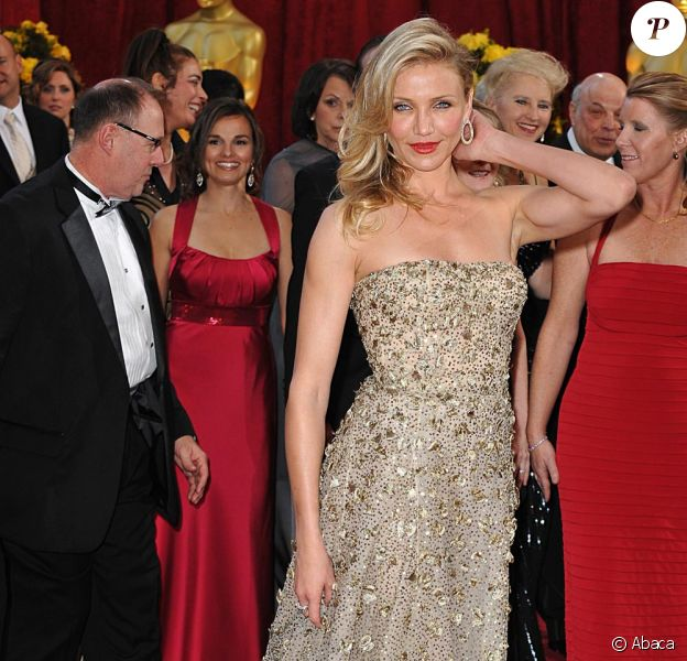 Cameron Diaz dans une robe Oscar de la Renta à la 82e cérémonie des Oscars à Los Angeles