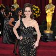 Tina Gey dans une robe asymétrique Michael Kors à la 82e cérémonie des Oscars à Los Angeles