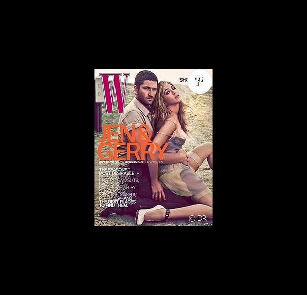 Gerard Butler et Jennifer Aniston en couverture de W