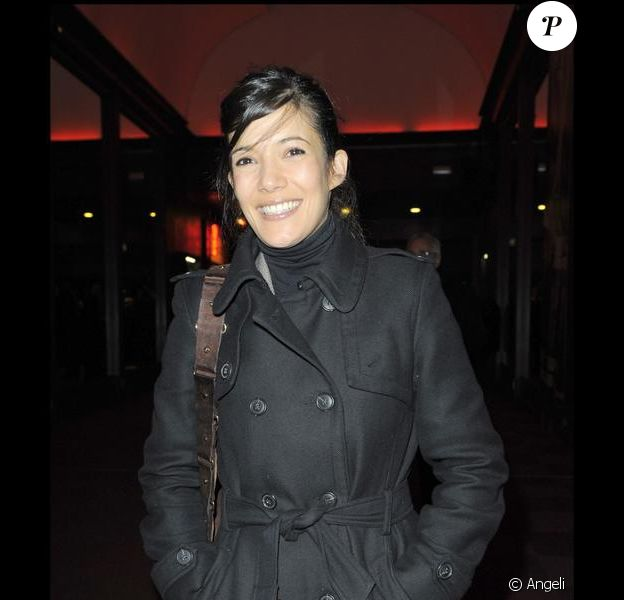 """La pétillante et charmante Mélanie Doutey à la générale du spectacle de Michel Boujenah """"Enfin libre"""" à l'Olympia le 9 mars 2010"""