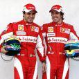Fernando Alonso (à droite), le nouveau, et Felipe Massa, le miraculé, signent un doublé pour la première course de la saison 2010