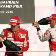 Grand Prix de Bahreïn 2010, le 13 mars : Fernando Alonso signe une première victoire pour sa première course chez Ferrari, devant son coéquipier Massa et Lewis Hamilton