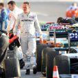 Grand Prix de Bahreïn, le 14 mars 2010 : Derrière la victoire d'Alonso, sa première chez Ferrari, Michael Schumacher accroche la 6e place pour son grand retour