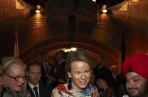 La princesse Mathilde de Belgique, tout en élégance pour épauler son mari... L'enjeu le vaut !