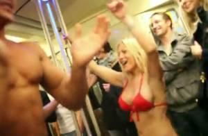 Lap dance sexy et show dénudé dans le métro parisien : un buzz très hot pour une nouvelle émission télé...