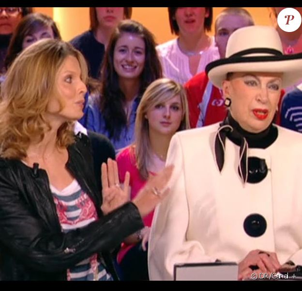 Geneviève de Fontenay et son fils Xavier sur le plateau du Grand Journal, clash avec Sylvie Tellier !