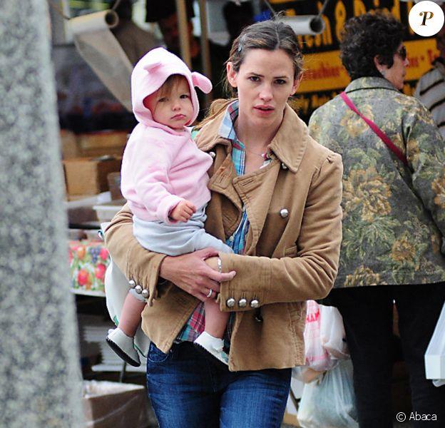 Jennifer Garner et sa fille Seraphina (11 avril 2010, Los Angeles)