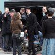 Robert Pattinson sur le tournage de Bel Ami, à Budapest.