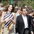 Carla Bruni et Nicolas Sarkozy en avril 2009