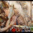 Vernissage de l'exposition des tableaux de Pal Sarkozy, à l'Espace Pierre Cardin, le 24 avril 2010   Volte Face, 6 500 euros.