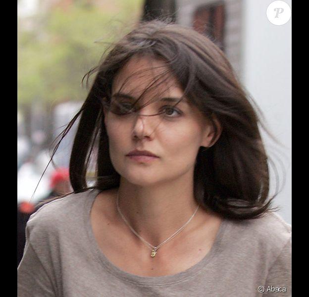 Katie Holmes en tournage à New York en avril 20100