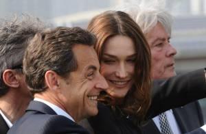 Nicolas Sarkozy et Carla Bruni : un duo amoureux et émerveillé, aux côtés du chic Alain Delon !